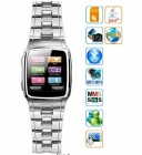 TW810 sliver watch mobile phone